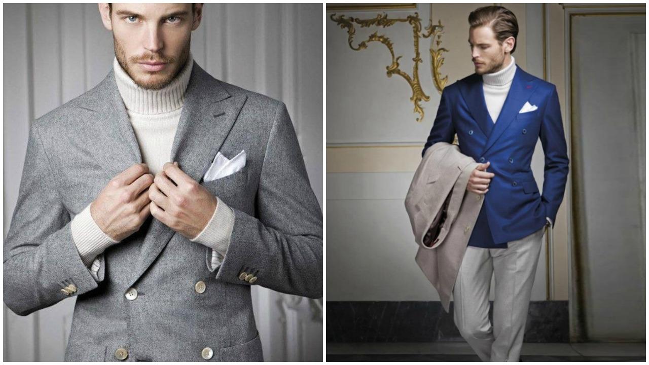 Kruvaze ceket & boğazlı triko ikilisi