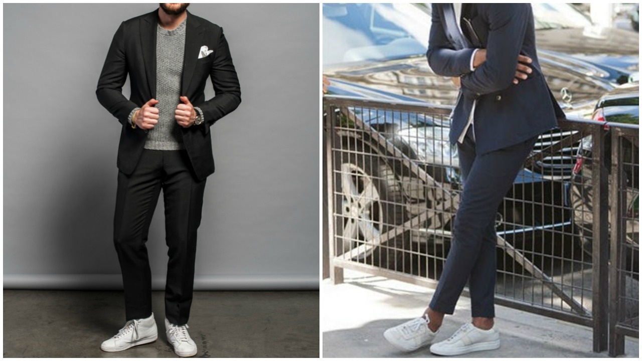 Takım elbise & sneakers ikilisi