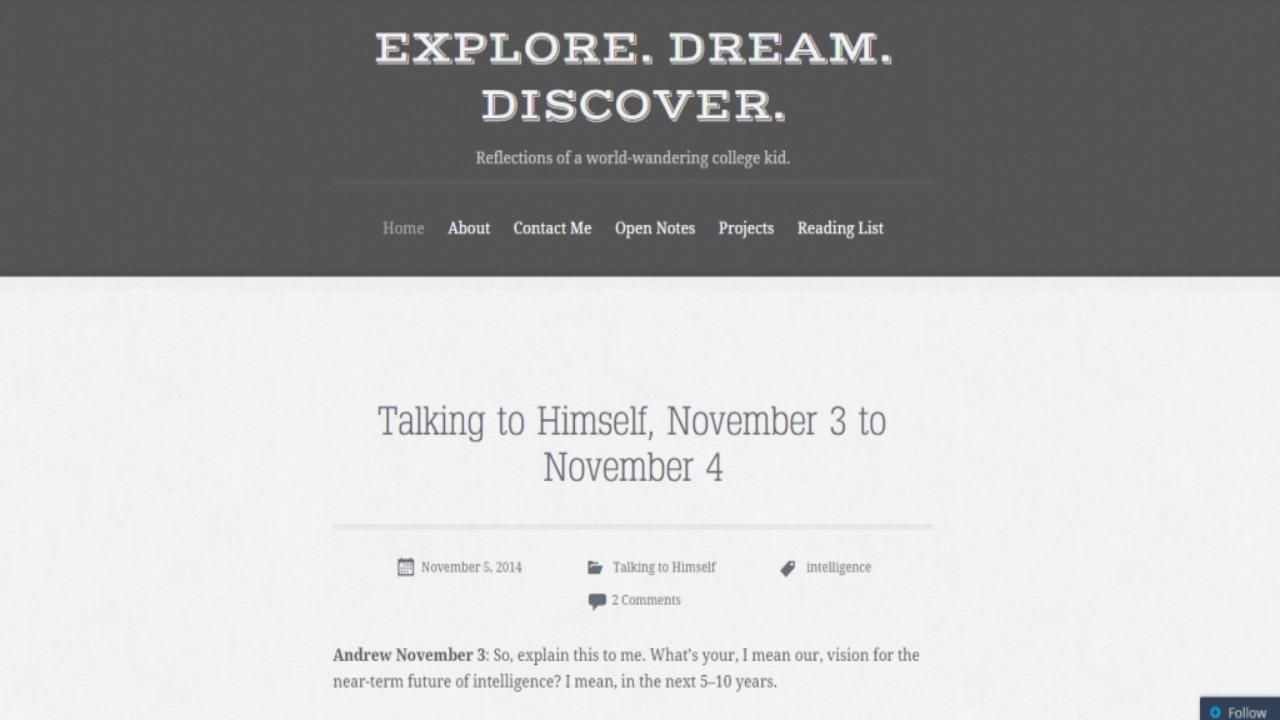 explore discover dream