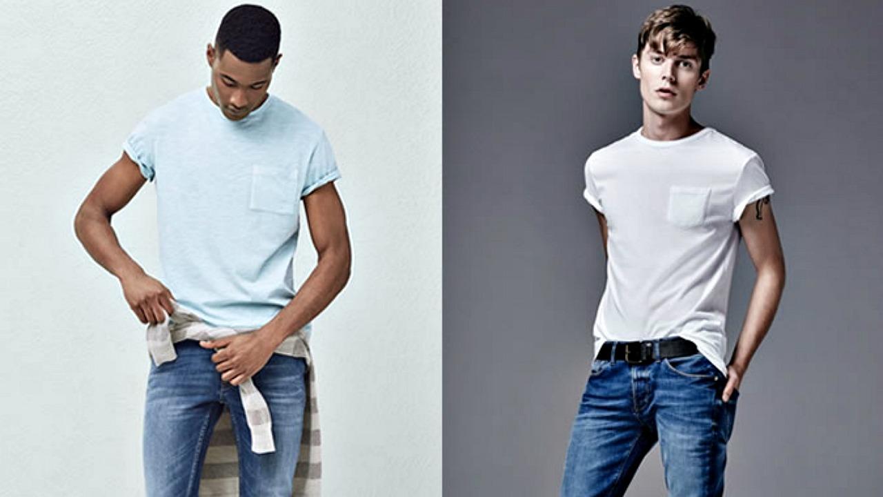 Pamuklu tişört jean kombinleri
