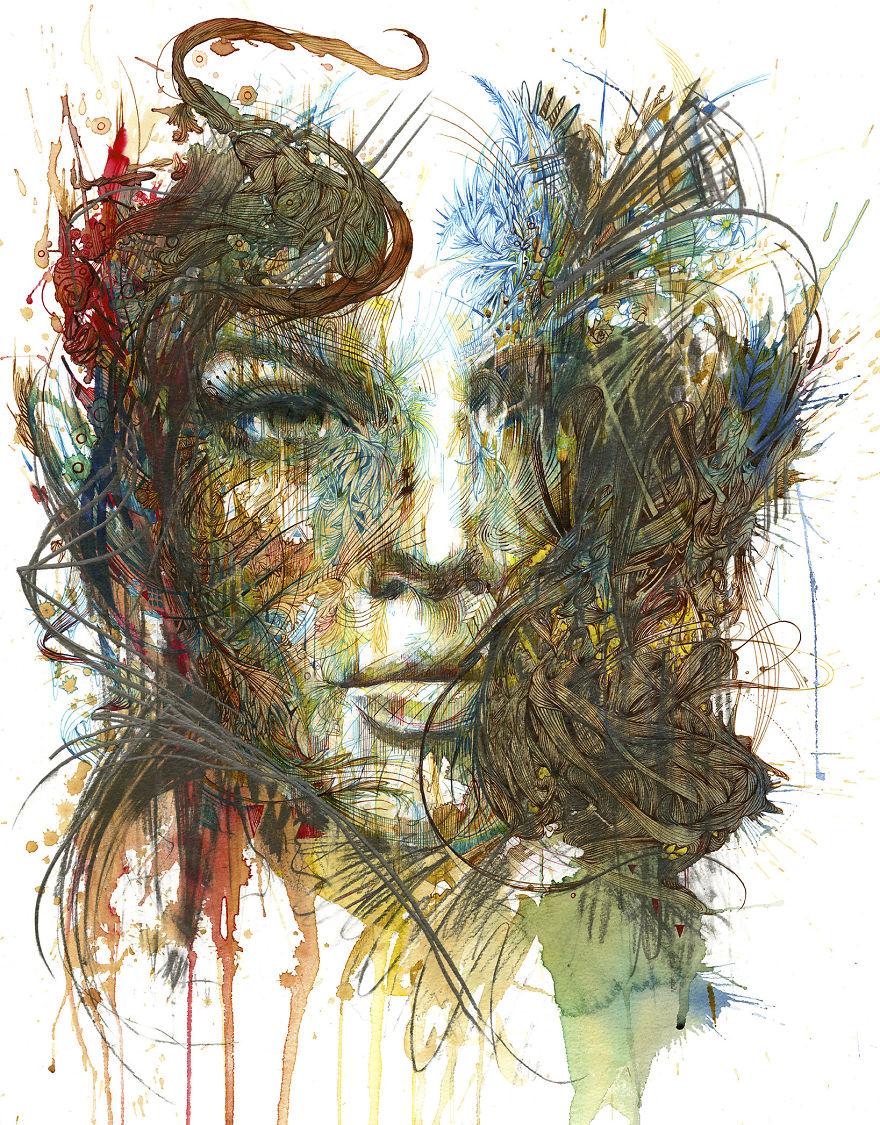Carne Griffiths sanat portre
