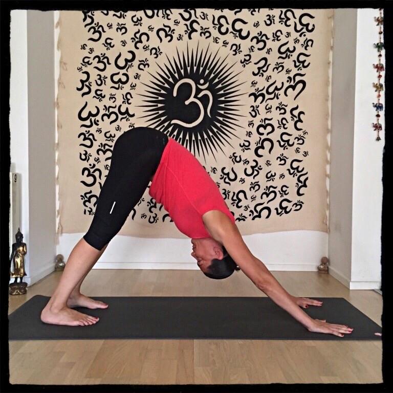 yoga köpek pozu