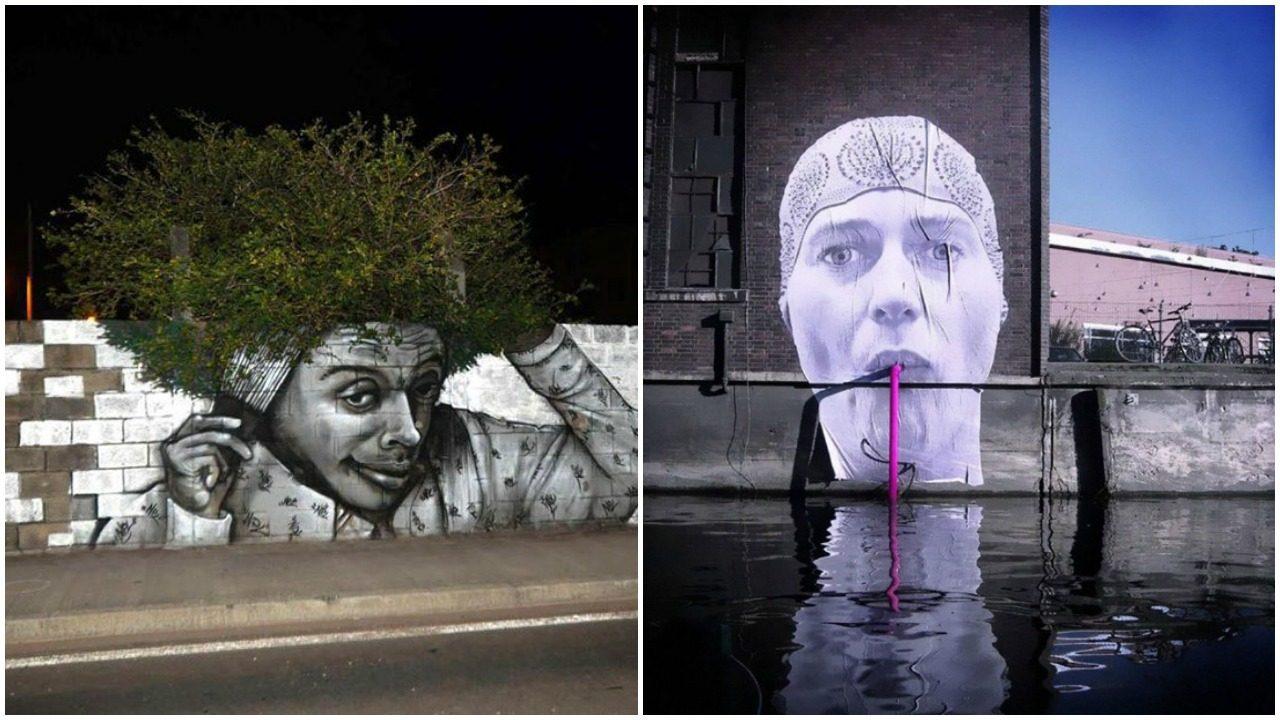 Sokak sanatına yepyeni bir gerçeklik katan ustalık gerektiren çalışmalar