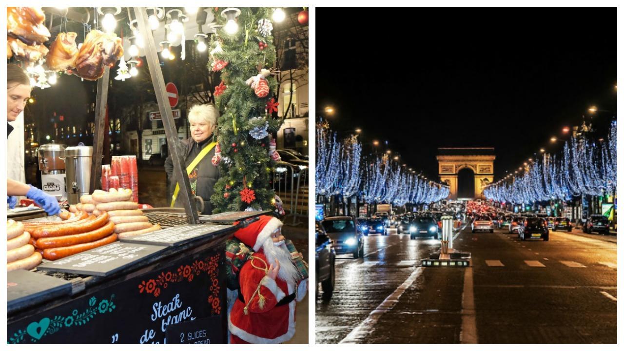 Paris noel pazarı