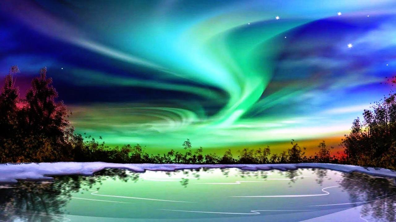 kuzey ışıkları fotoğraf