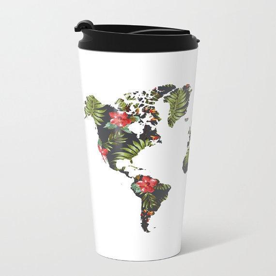 Dünya Haritalı Matara