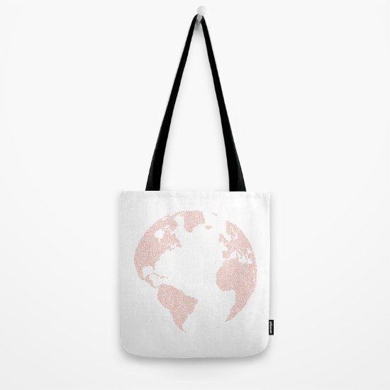 Dünya Haritalı Çanta