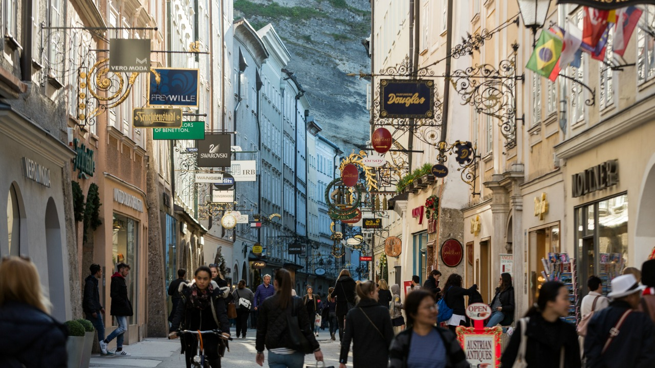 Mozart'ın doğduğu şehir Salzburg