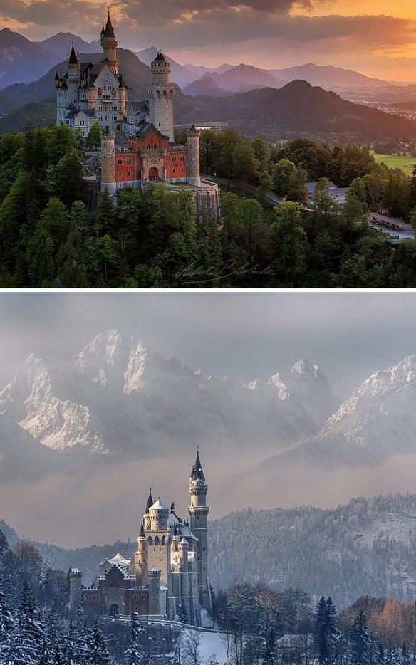 Neuschwanstein Şatosu, Almanya