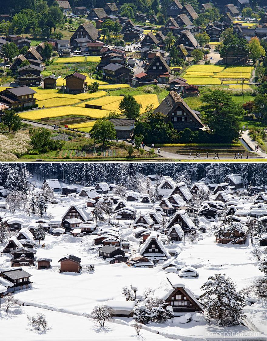Shirakawa-Gō Antik Kenti , Japonya