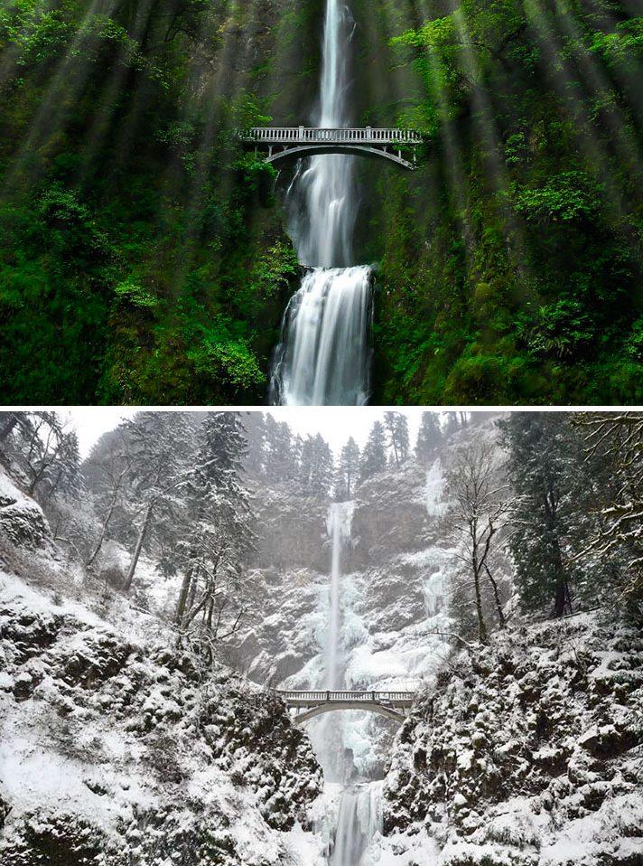 MultnomahŞelalesi,Oregon ABD