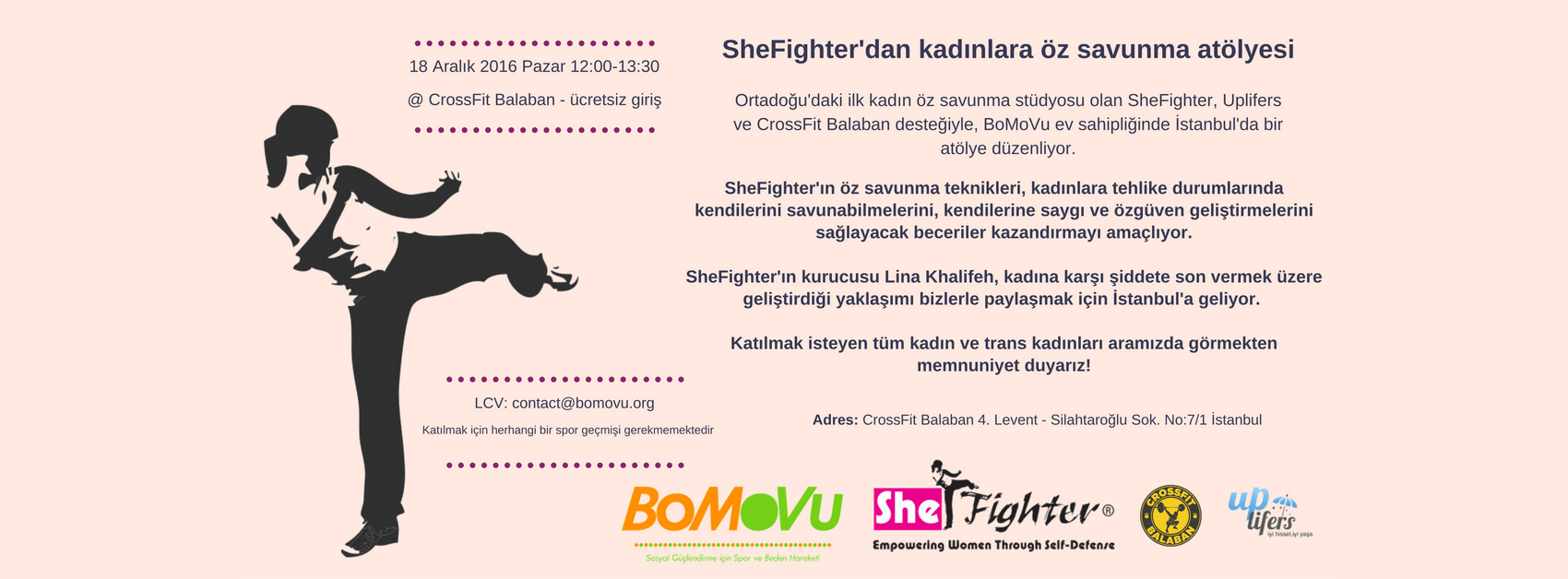 she fighter atelier istanbul - lina kalifeh