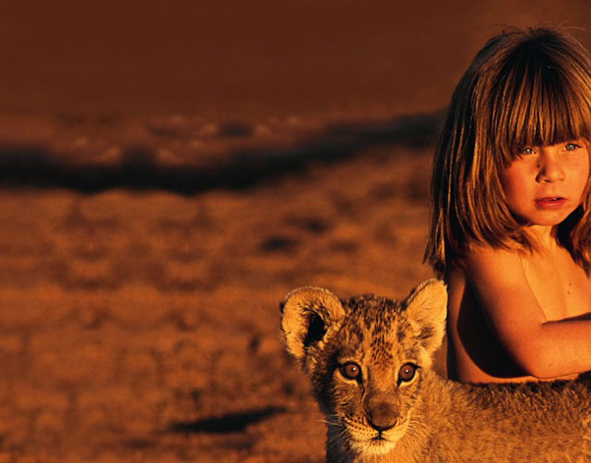 tippi africa little girl lioness pic photo