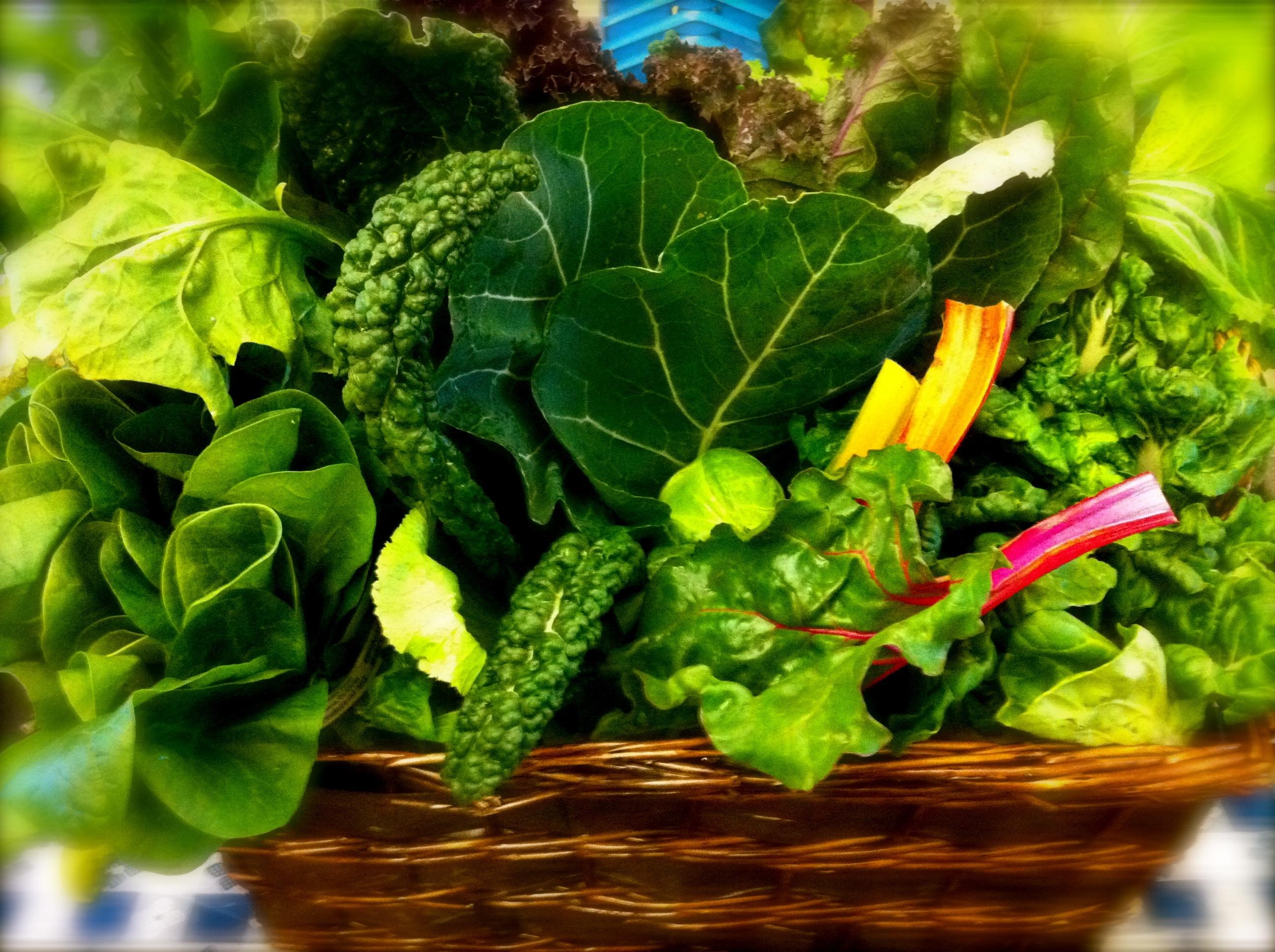 yeşil yapraklı sebzeler şans