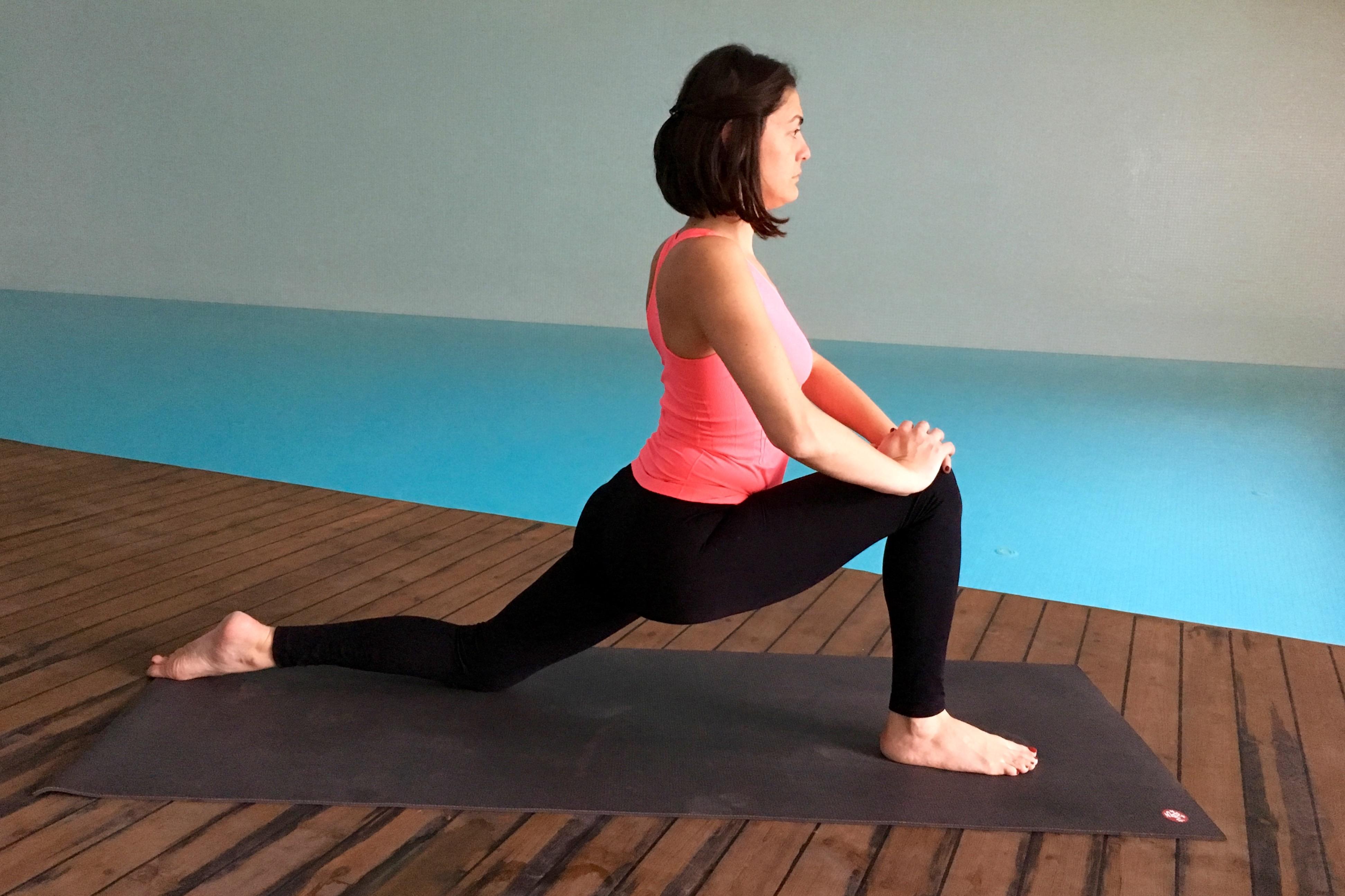 yin yoga - ejderha durusu - Anjaneyasana