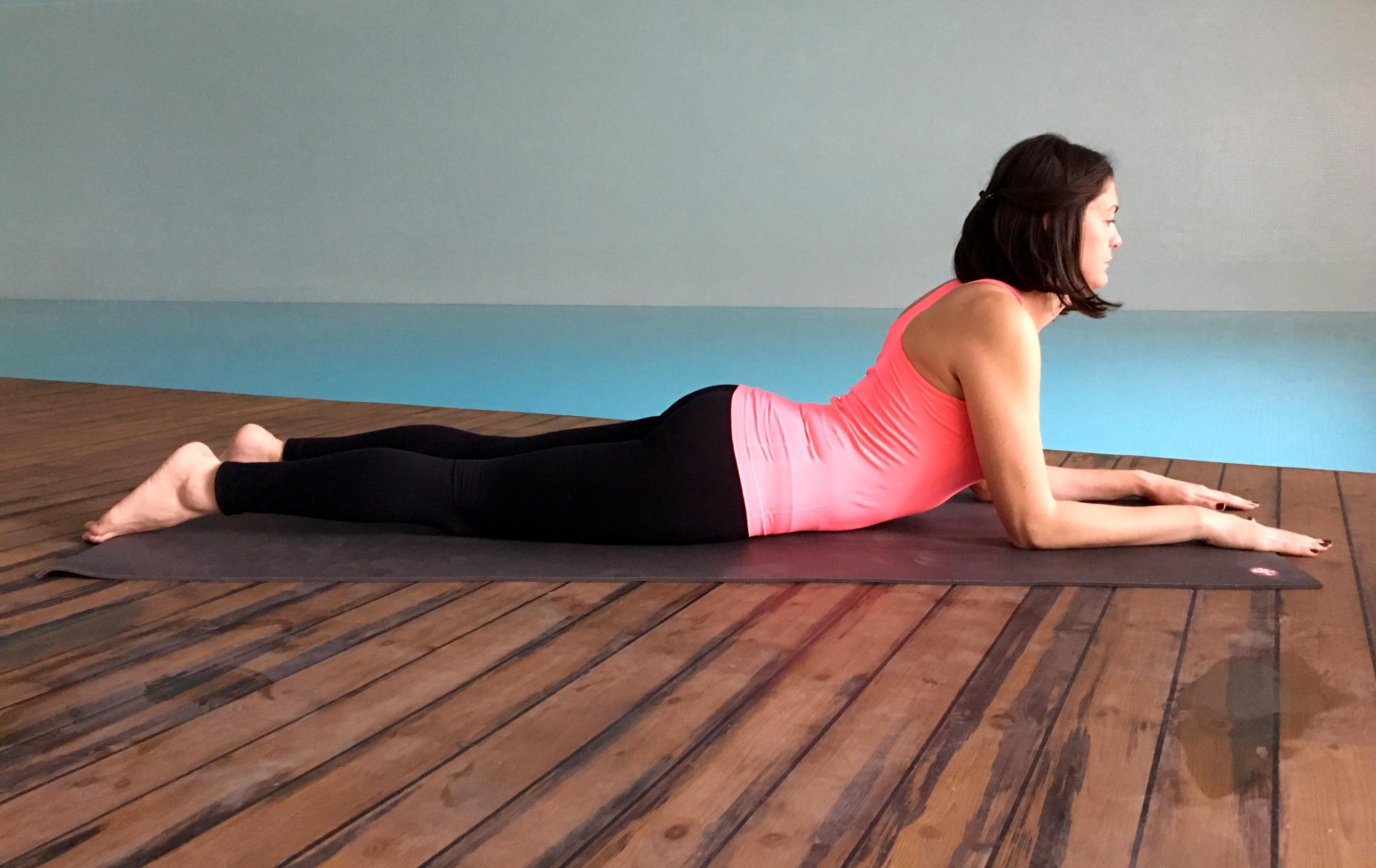 yin yoga - sfenks durusu - Bhujangasana