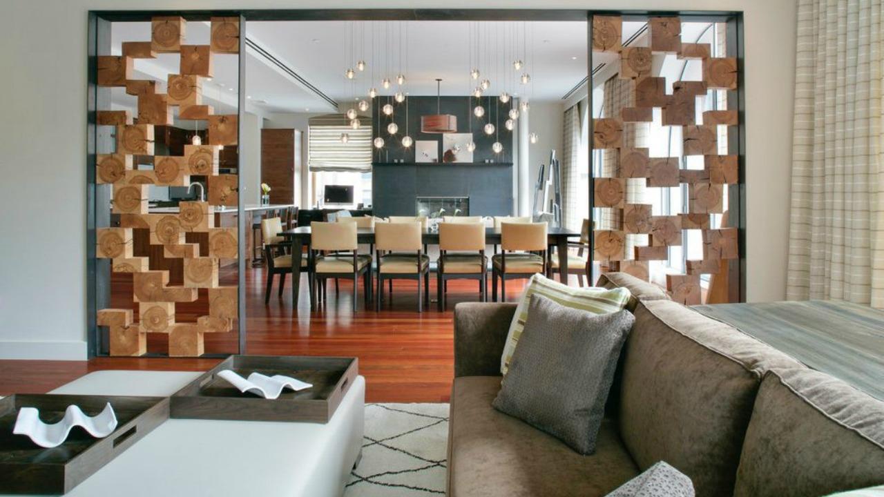 Дизайн перегородки между кухней и гостиной