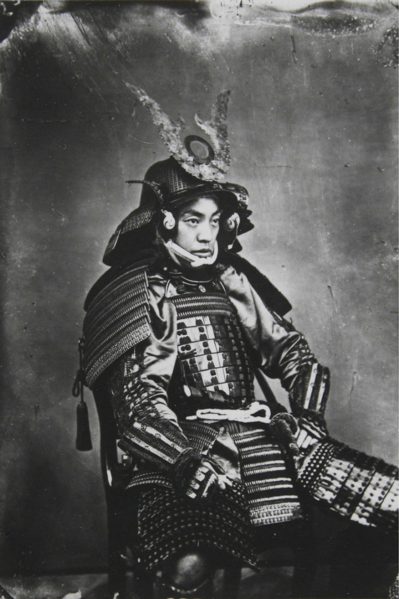 Siyah beyaz Samuray fotoğrafı