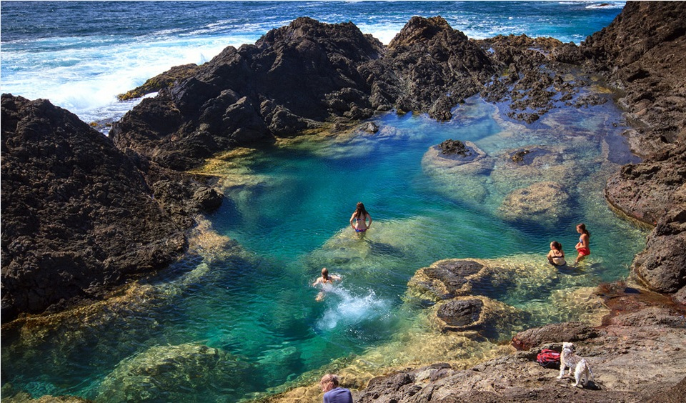 Mermaid Pools, Yeni Zelanda