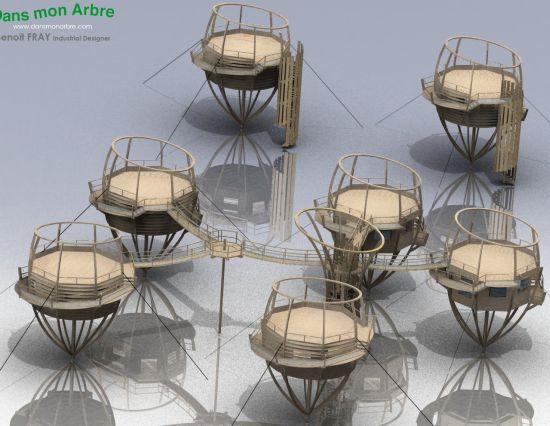 ağaç ev konsept