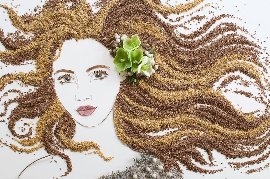 I balance twigs and flowers to create intricate portraits out of mother nature bbd