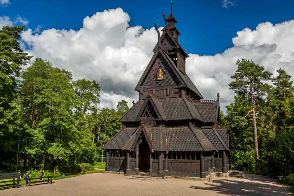 Borgund Stave Kilisesi, Laerdal, Norveç