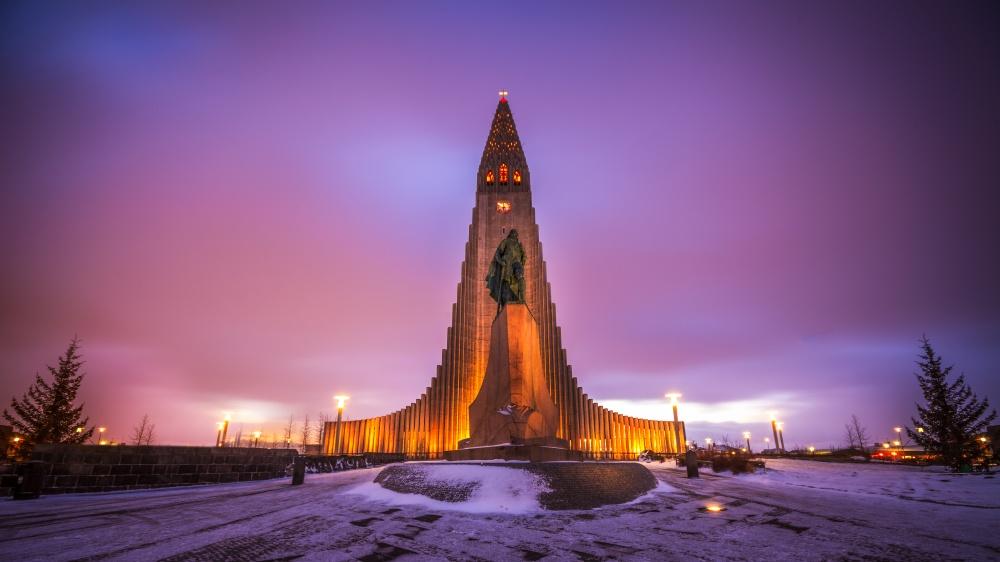 Hallgrímskirkja Kilisesi, Reykjavik, İzlanda