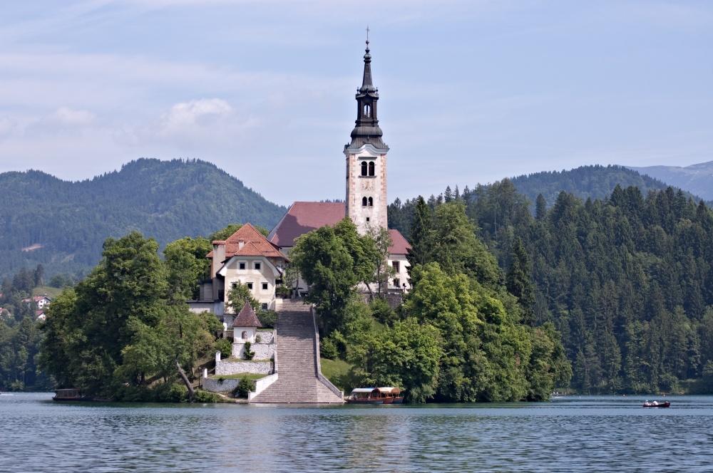 Pilgrimage Kilisesi, Bled, Slovenya