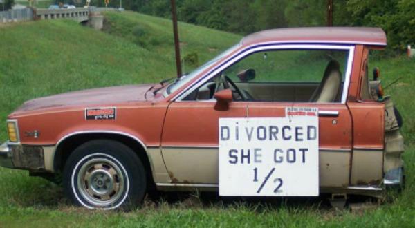 Boşanmış araba