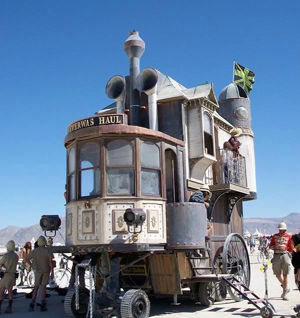 Ev şeklinde araba