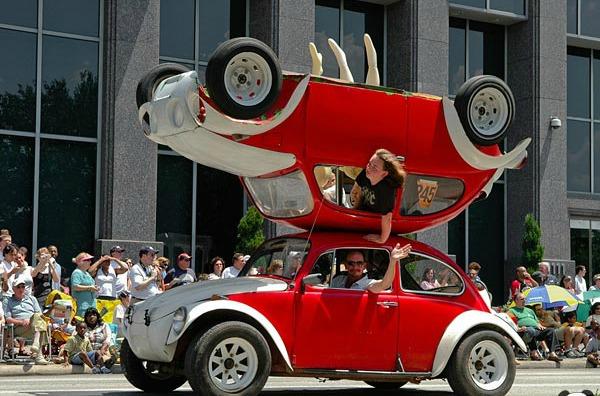 İki katlı araba