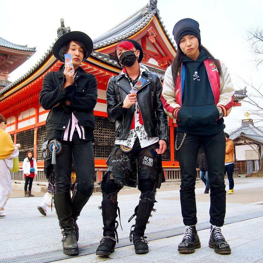 Akihiko, Daisuke ve Hiroki, Kiyomizu Tapınağı, Japonya