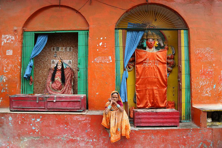Varanasi'de bir kadın, Hindistan