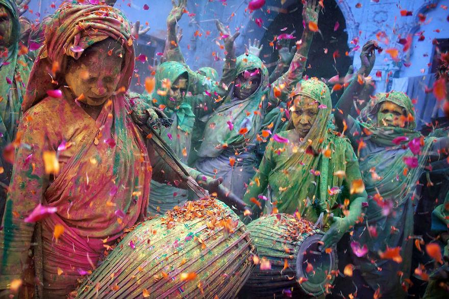 Vrindavan'da Holi Festivali kutlaması, Hindistan