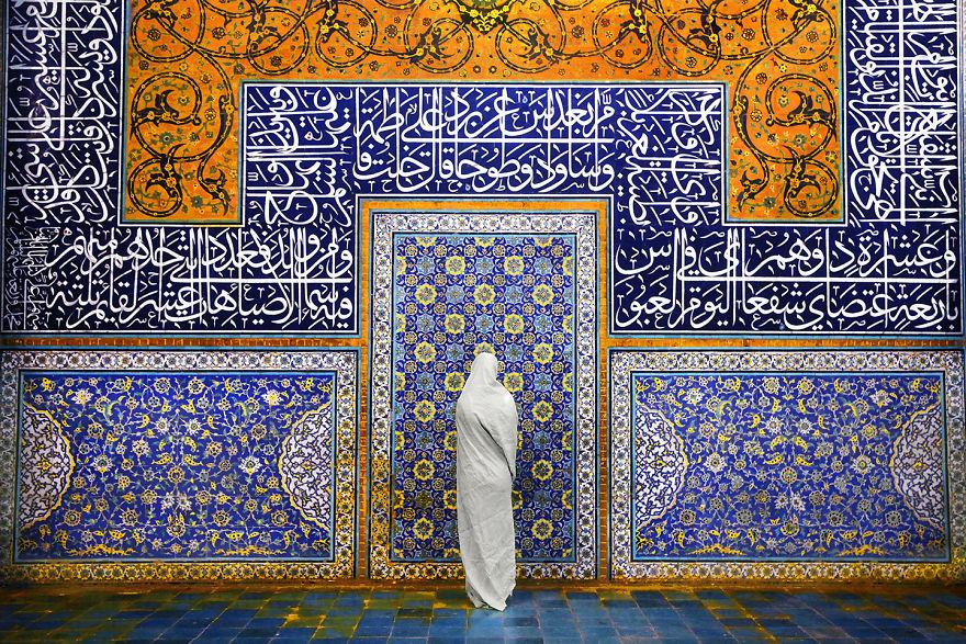 Şeyh Lütfullah Camisi'ndeki kadın, İran