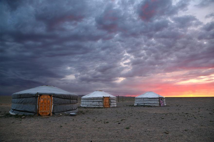 Gobi Çölü'nde gün doğumu, Moğolistan