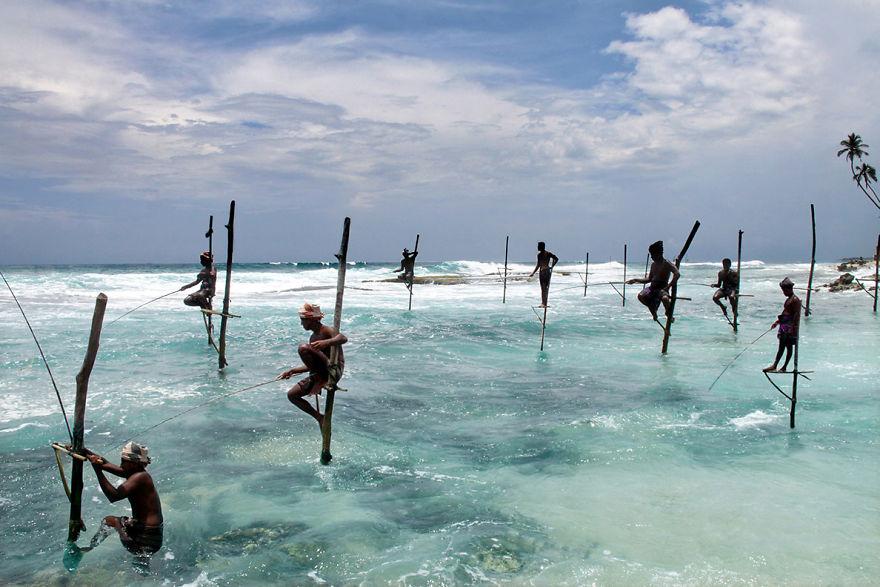 Ahangama'daki balıkçılar, Sri Lanka