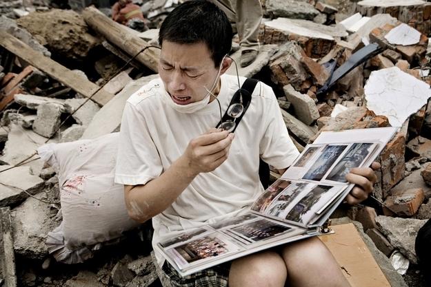 Çin'de deprem fotoğraf albümü