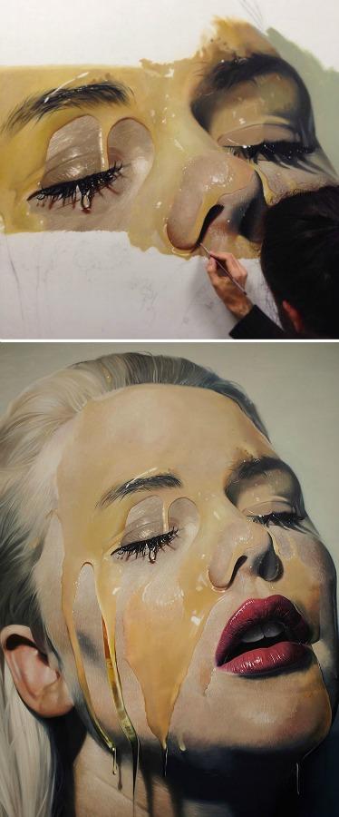 Mike Dargas, Yağlı boya