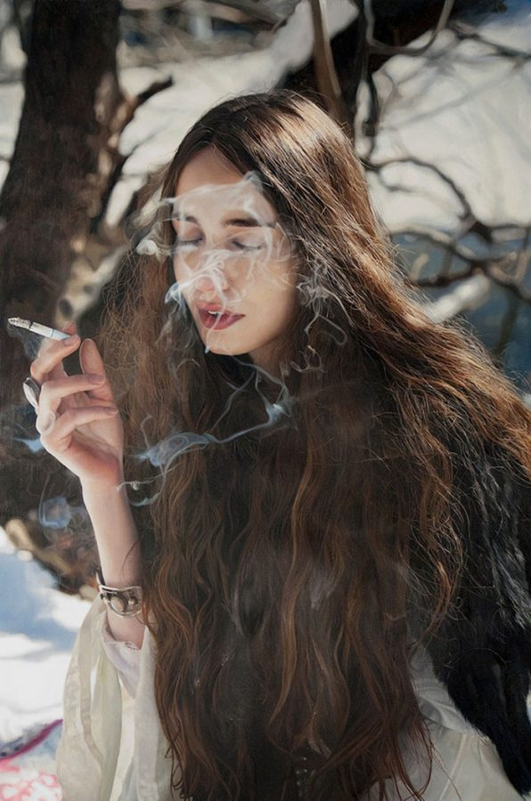 Yigal Ozeri, Yağlı boya
