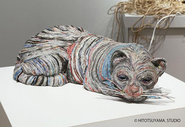 hayvan heykelleri kedi