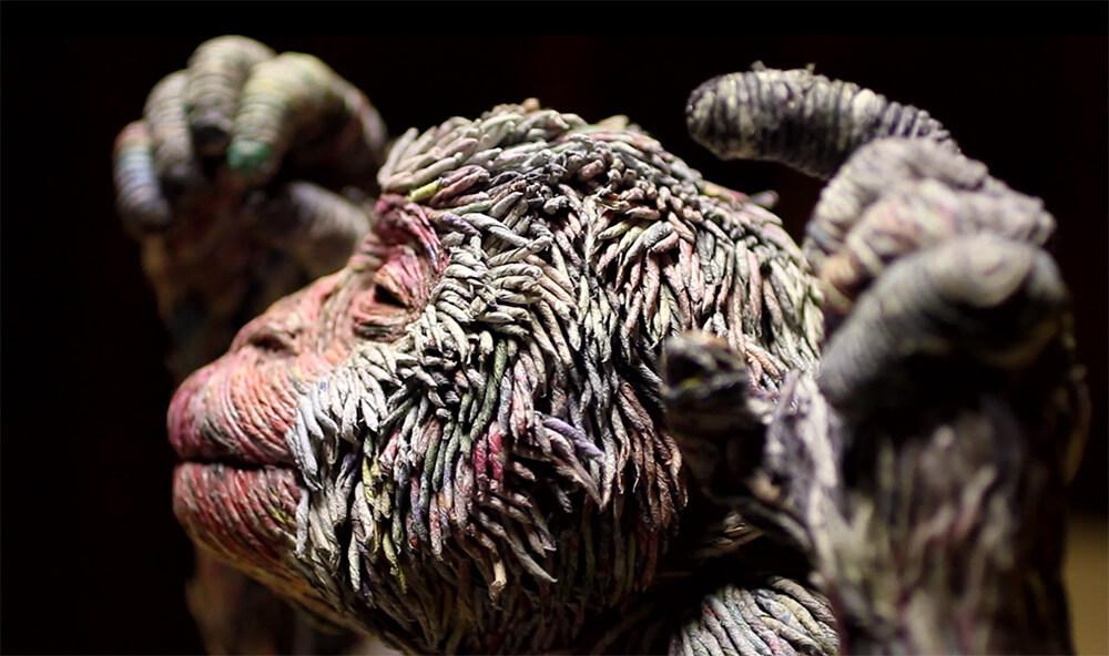 hayvan heykelleri maymun