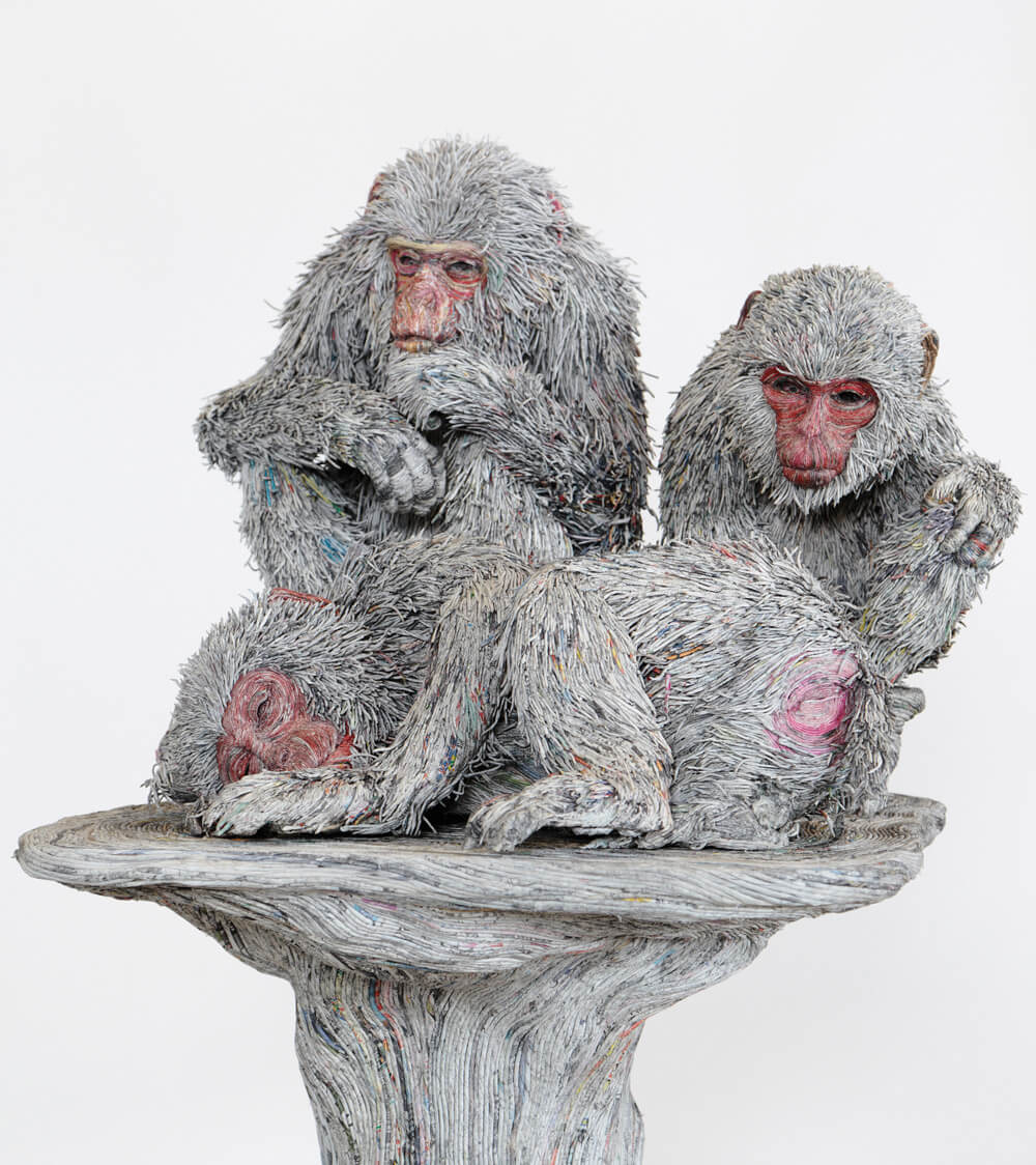 hayvan heykelleri maymunlar