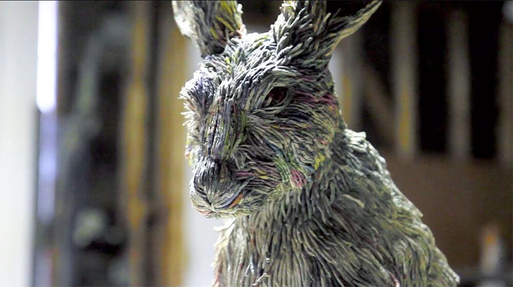 hayvan heykelleri tavşan