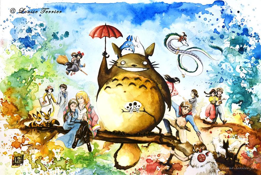 Louise Terrier Hayao Miyazaki Komşum Totoro