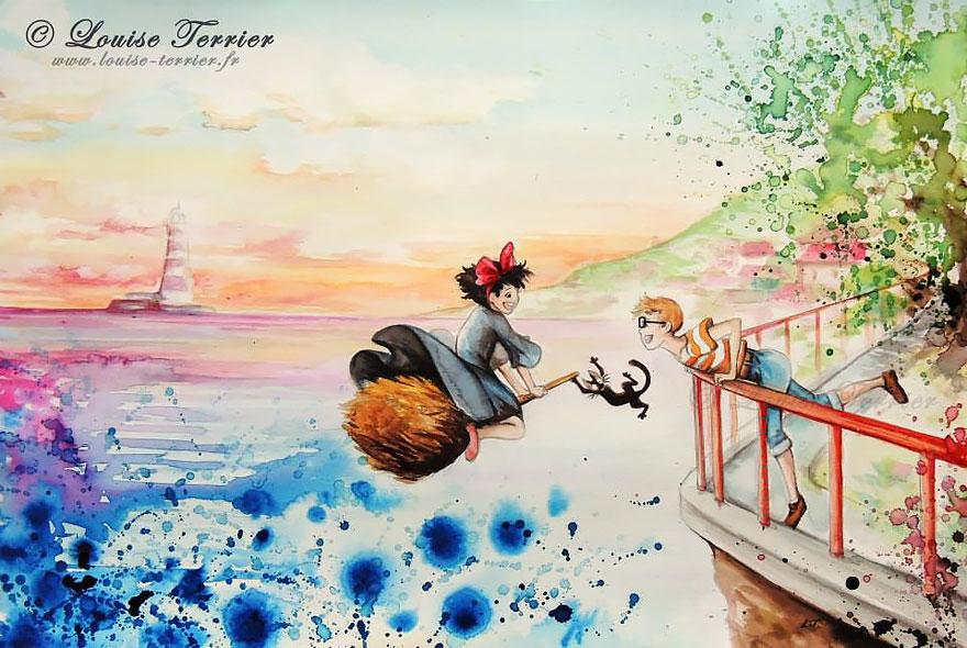 Louise Terrier anime resim örnekleri