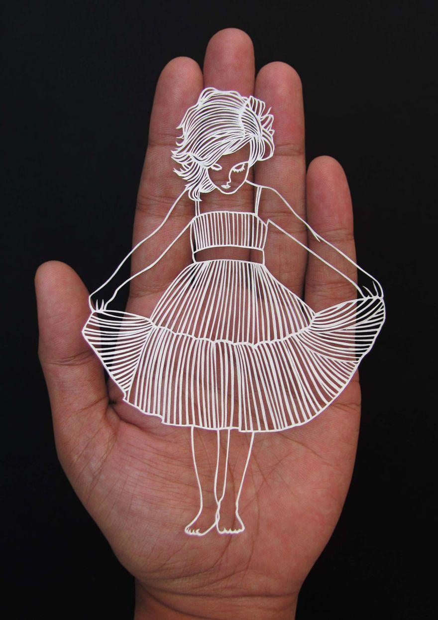 kağıttan heykel