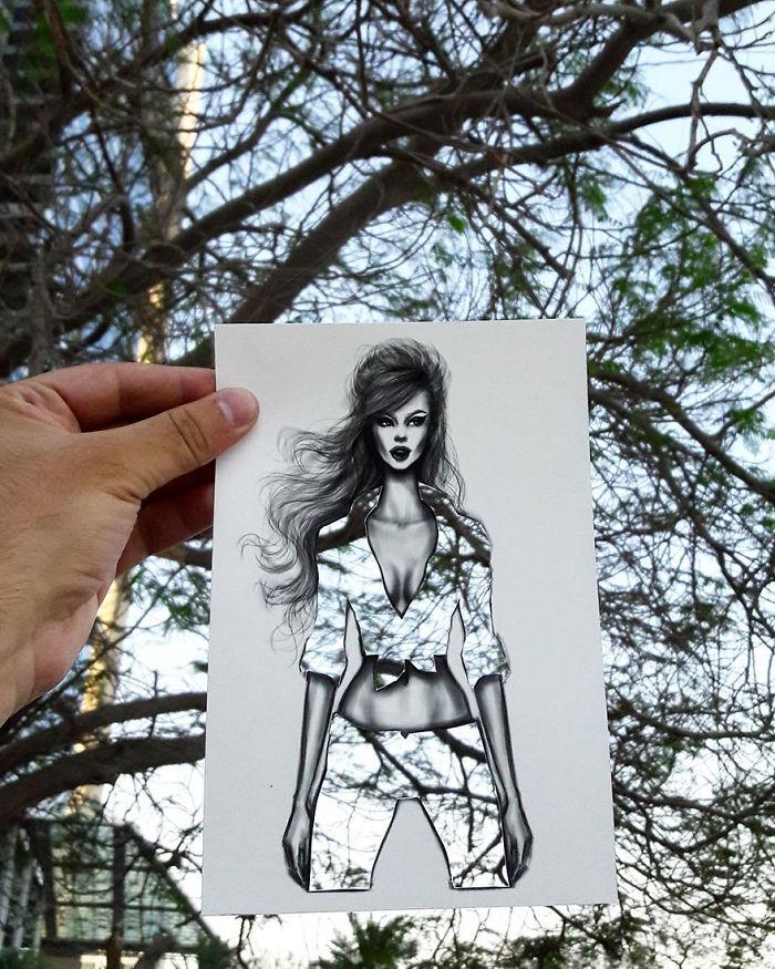 Shamekh Bluwi moda illüstrasyon örnekleri