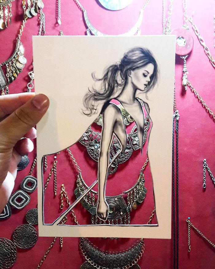 Shamekh Bluwi moda çizim örnekleri
