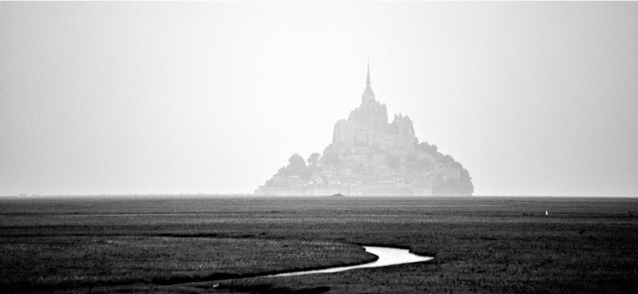 mont saint michel abbey in france